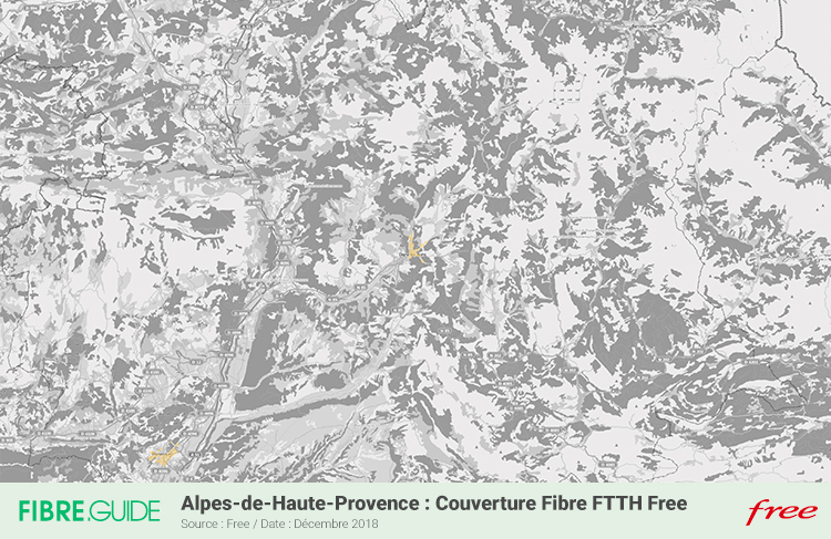 Carte Fibre Free Alpes-de-Haute-Provence