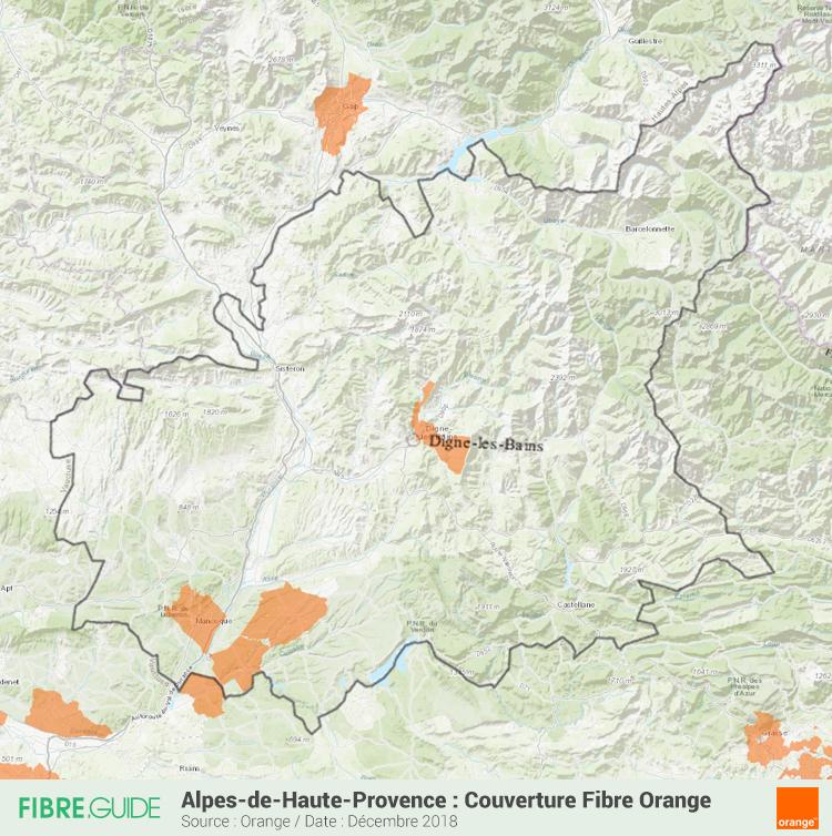 Carte Fibre Orange Alpes-de-Haute-Provence