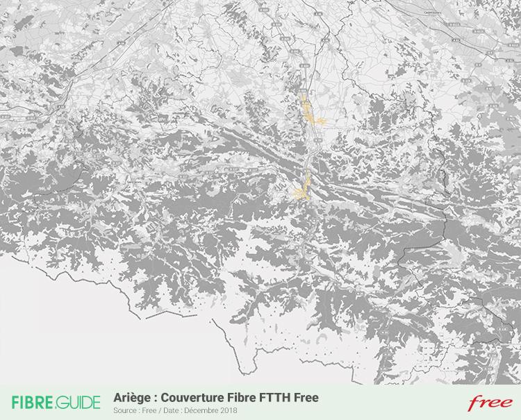 Carte Fibre Free Ariège