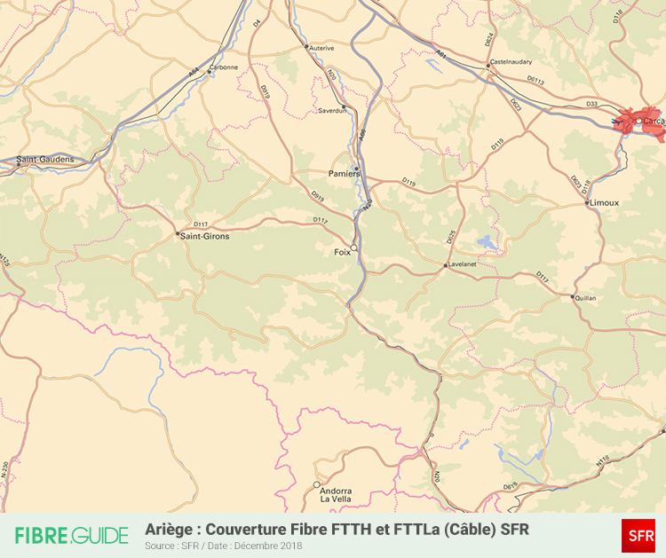 Carte Fibre SFR Ariège