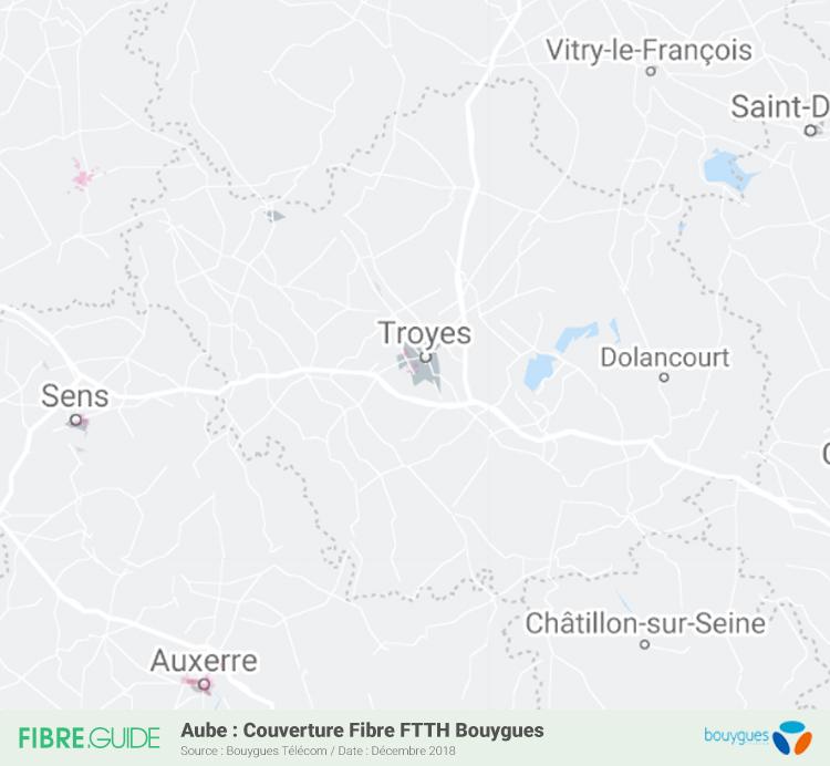 Carte Fibre Bouygues Télécom Aube