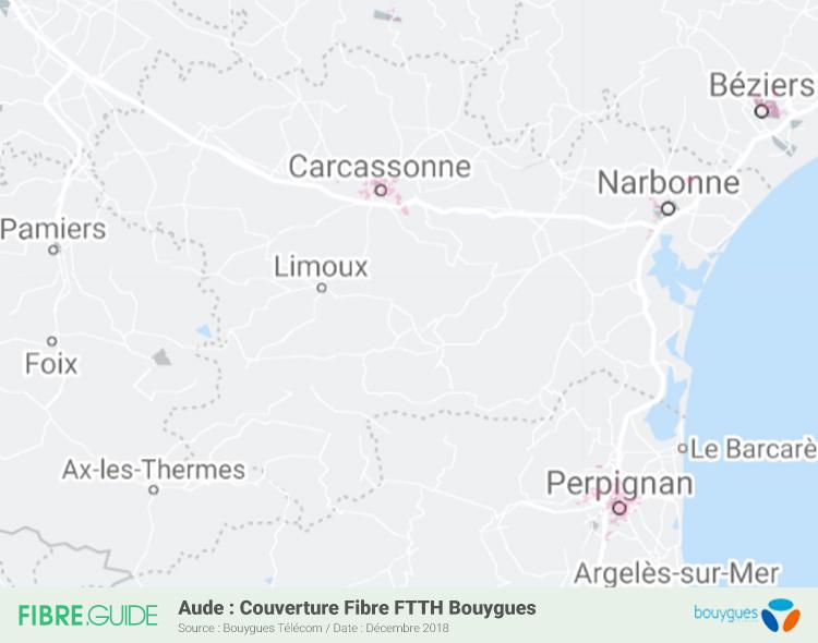 Carte Fibre Bouygues Télécom Aude