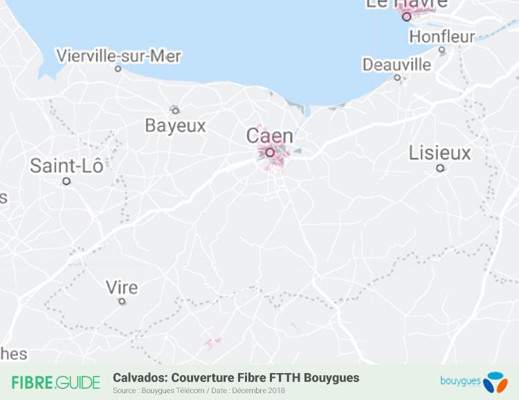 Carte Fibre Bouygues Télécom Calvados