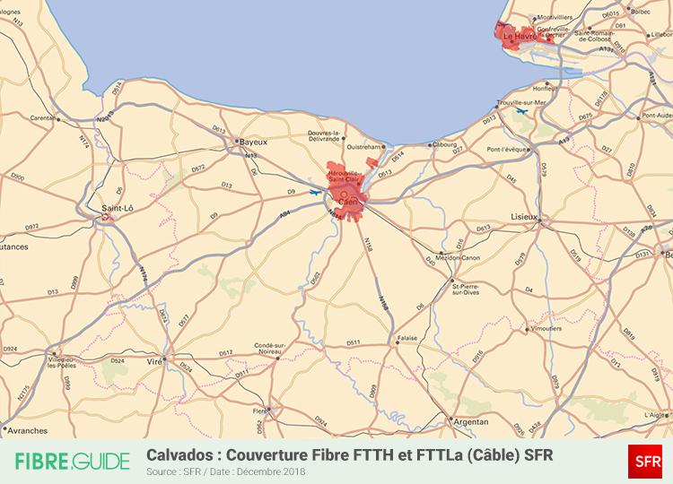 Carte Fibre SFR Calvados