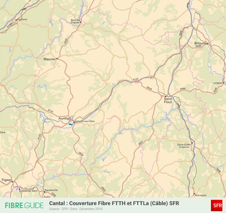 Carte Fibre SFR Cantal
