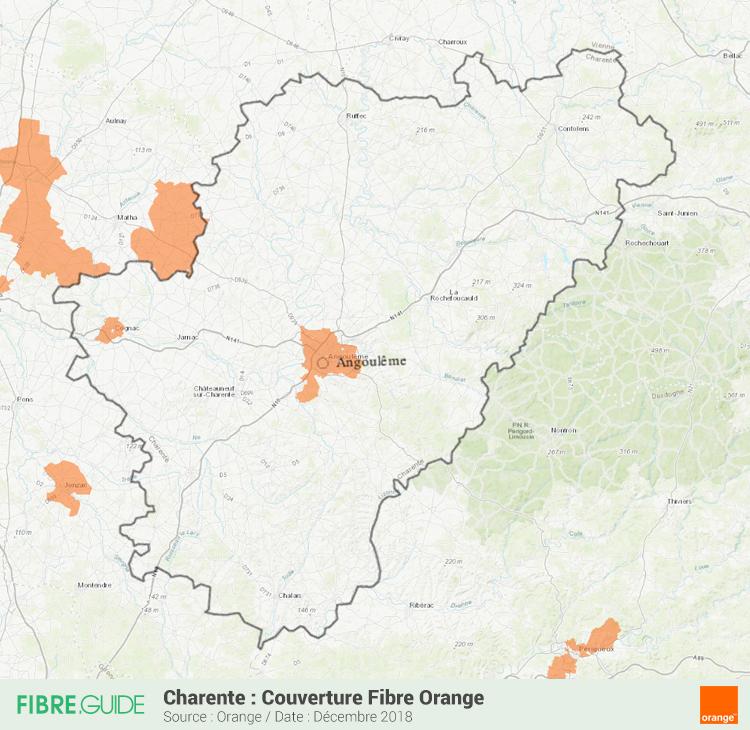 Carte Fibre Orange Charente