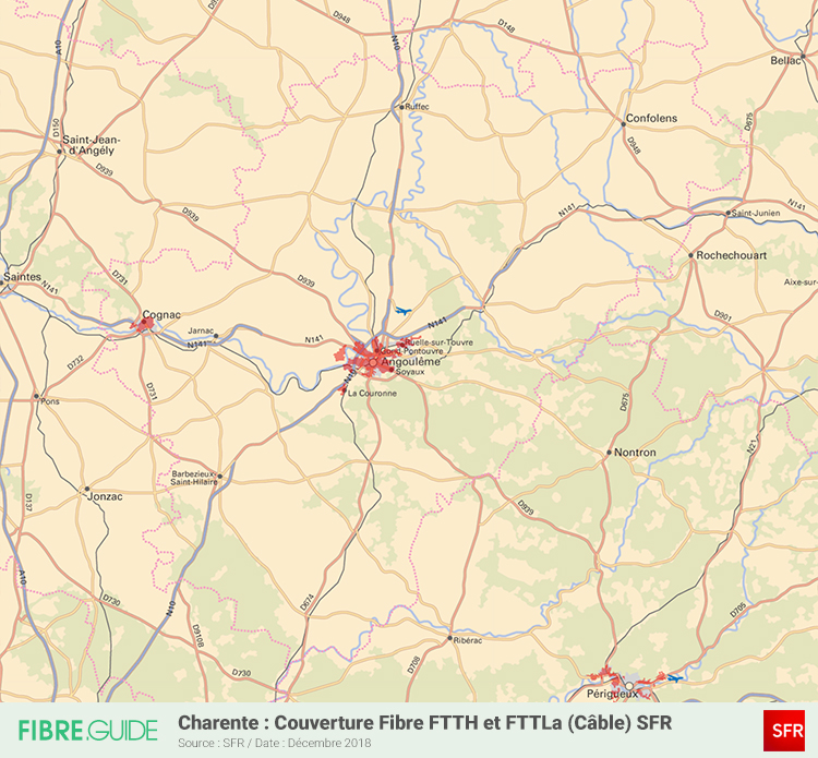 Carte Fibre SFR Charente