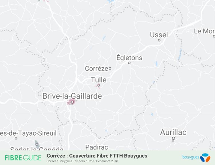 Carte Fibre Bouygues Télécom Corrèze