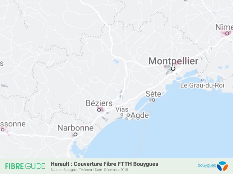 Carte Fibre Bouygues Télécom Hérault