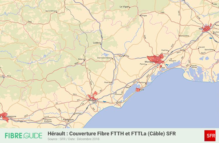 Carte Fibre SFR Hérault