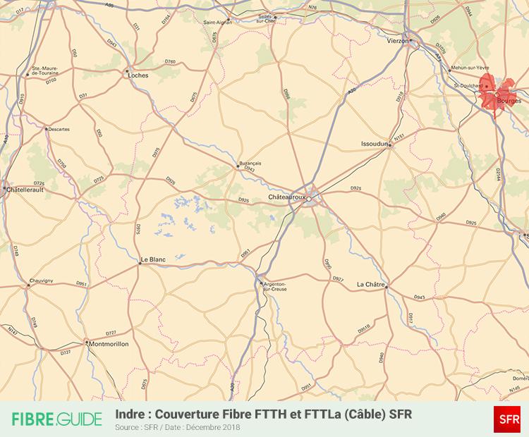 Carte Fibre SFR Indre