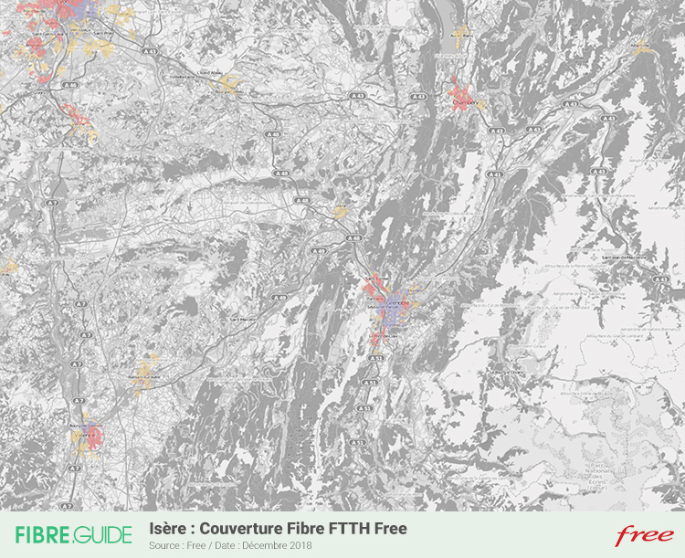 Carte Fibre Free Isère