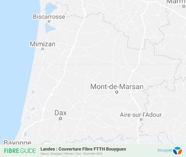 Carte Fibre Bouygues Télécom Landes