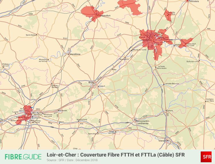 Carte Fibre SFR Loir-et-Cher