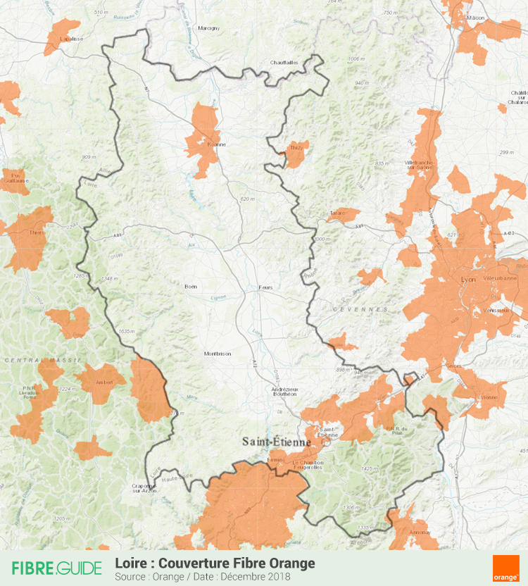 Carte Fibre Orange Loire