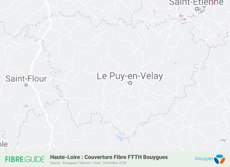 Carte Fibre Bouygues Télécom Haute-Loire