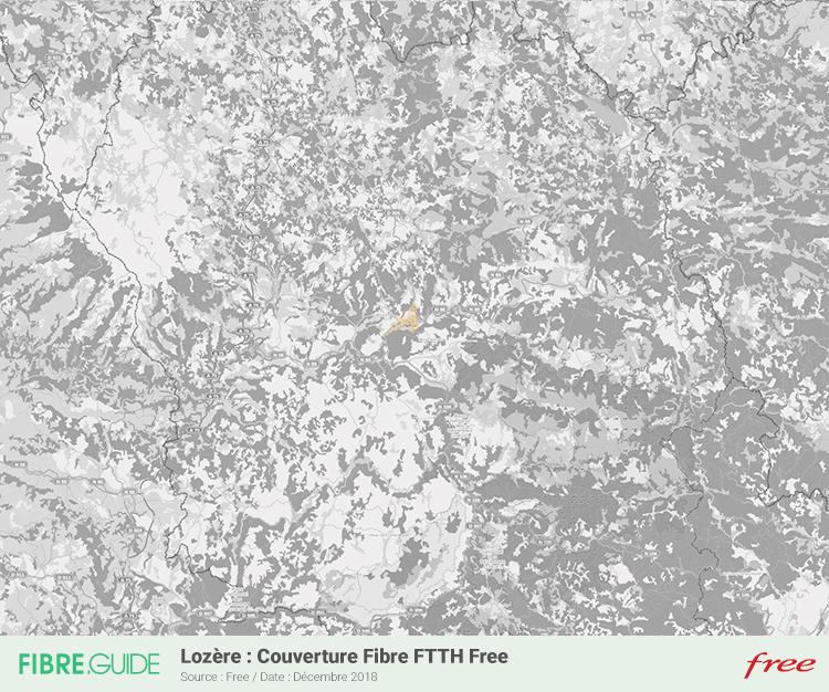Carte Fibre Free Lozère