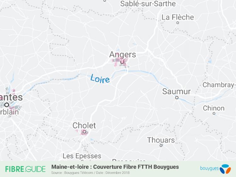 Carte Fibre Bouygues Télécom Maine-et-Loire