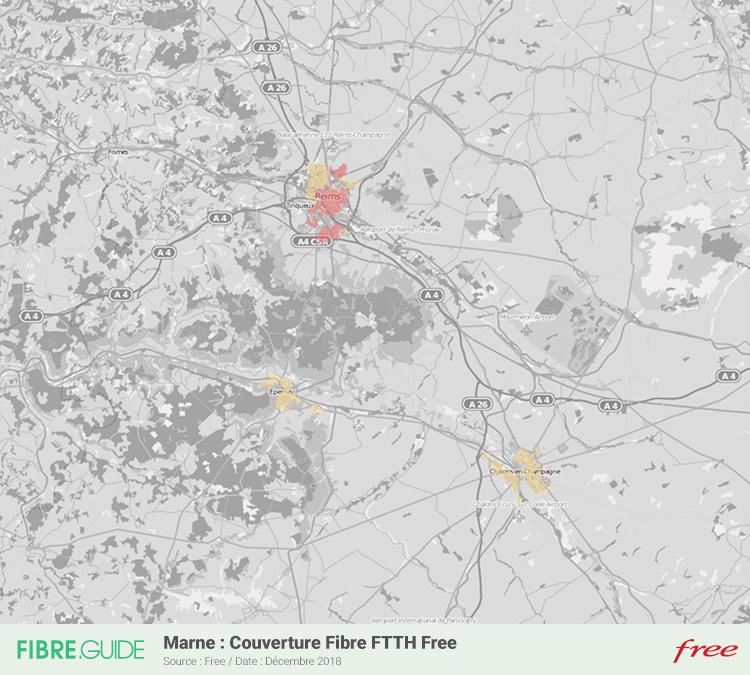 Carte Fibre Free Marne