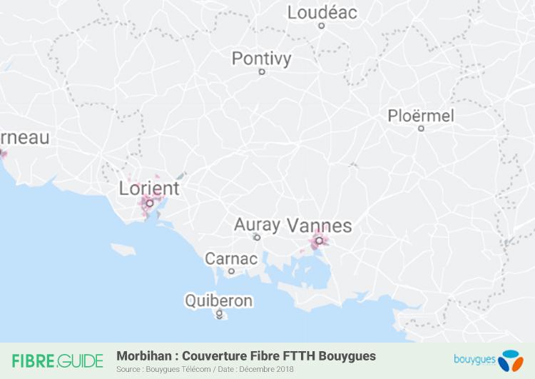 Carte Fibre Bouygues Télécom Morbihan
