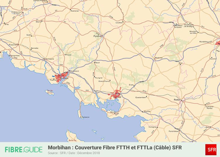 Carte Fibre SFR Morbihan