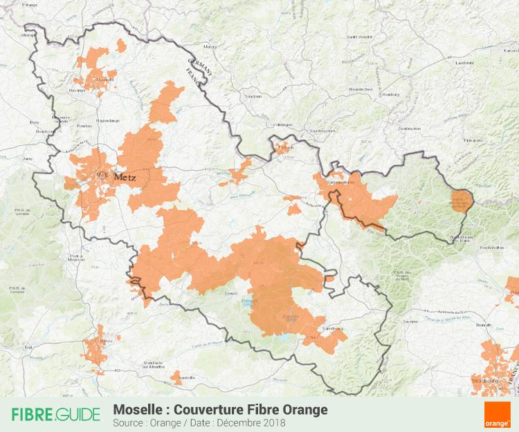Carte Fibre Orange Moselle