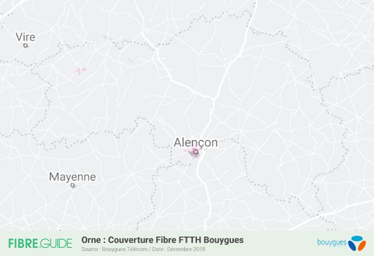 Carte Fibre Bouygues Télécom Orne