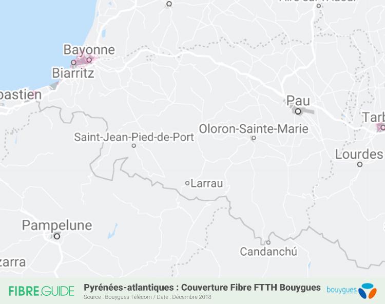 Carte Fibre Bouygues Télécom Pyrénées-Atlantiques
