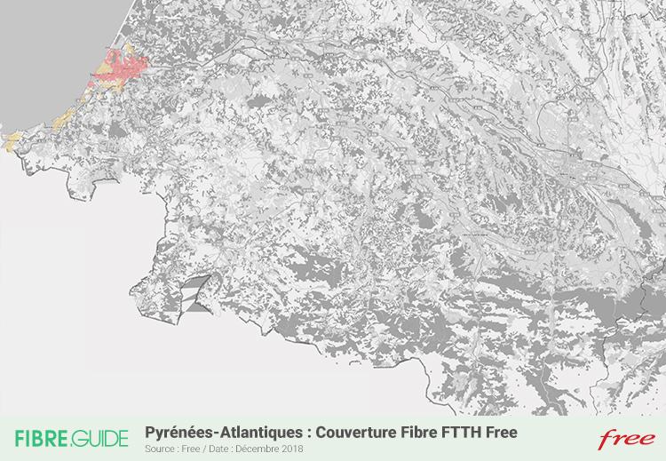 Carte Fibre Free Pyrénées-Atlantiques