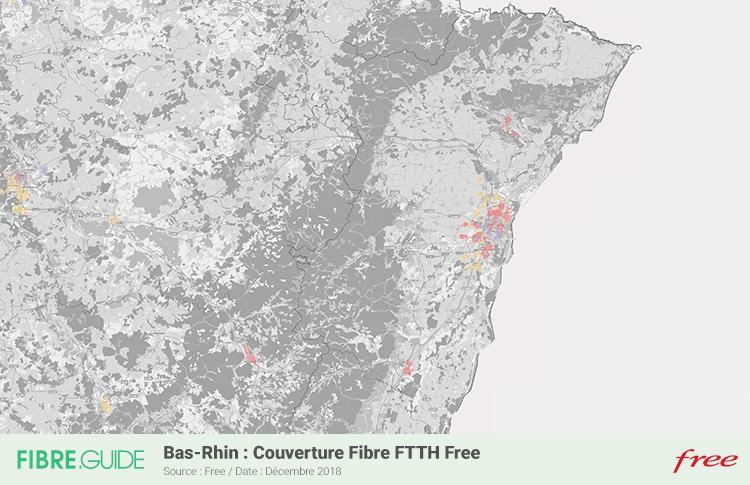 Carte Fibre Free Bas-Rhin