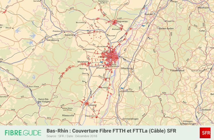 Carte Fibre SFR Bas-Rhin