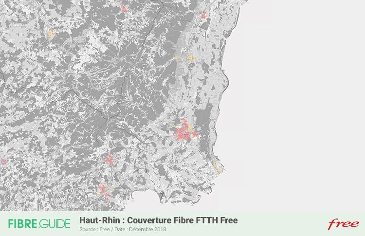 Carte Fibre Free Haut-Rhin
