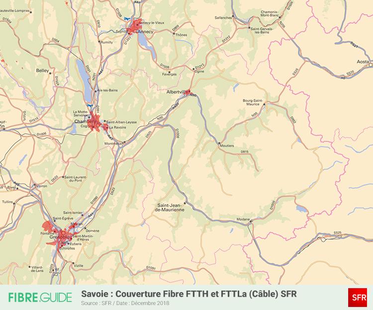 Carte Fibre SFR Savoie