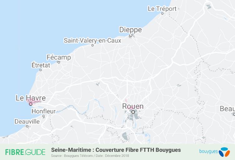 Carte Fibre Bouygues Télécom Seine-Maritime