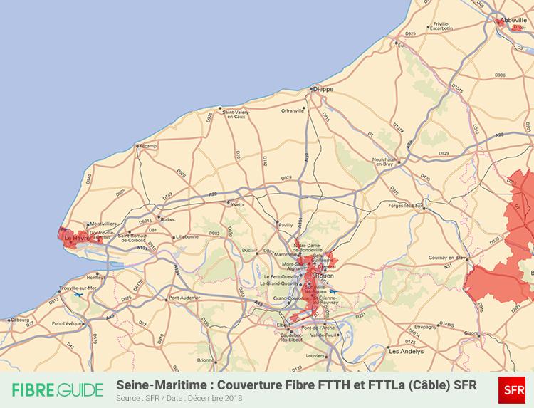 Carte Fibre SFR Seine-Maritime