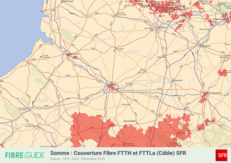 Carte Fibre SFR Somme