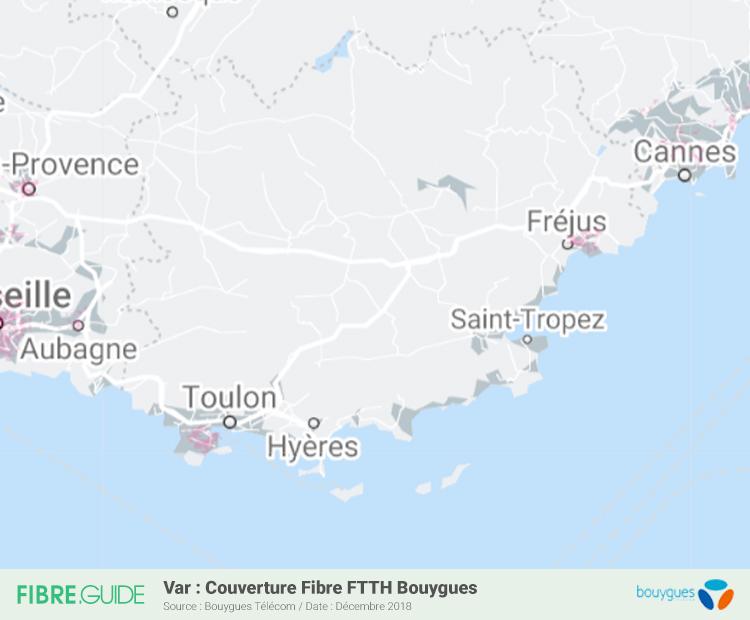 Carte Fibre Bouygues Télécom Var