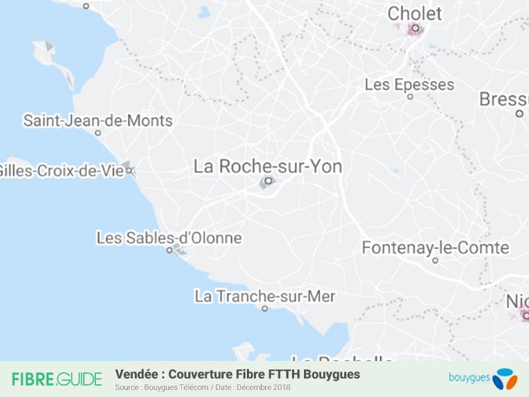 Carte Fibre Bouygues Télécom Vendée