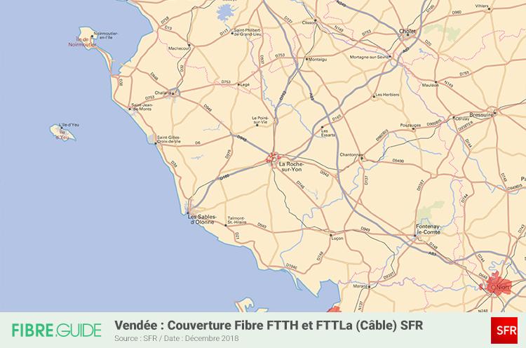 Carte Fibre SFR Vendée