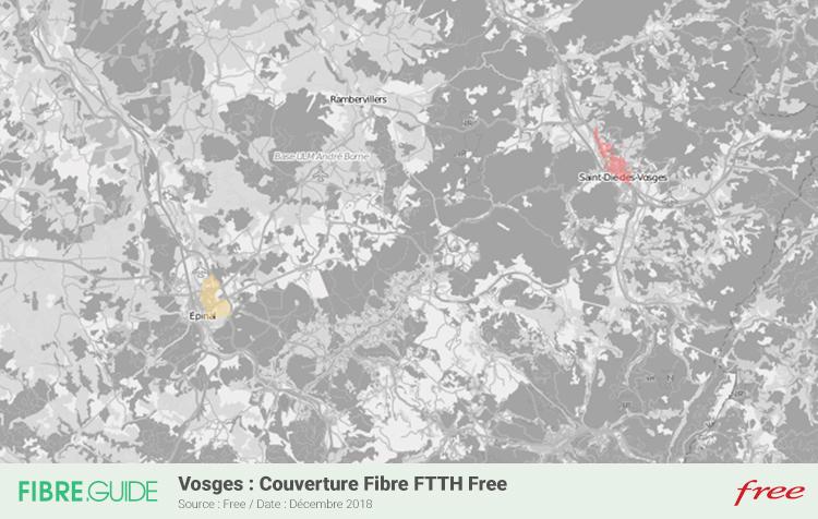 Carte Fibre Free Vosges