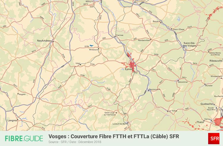 Carte Fibre SFR Vosges