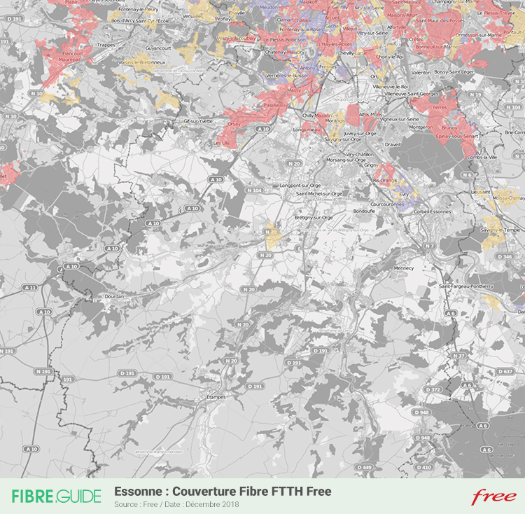 Carte Fibre Free Essonne