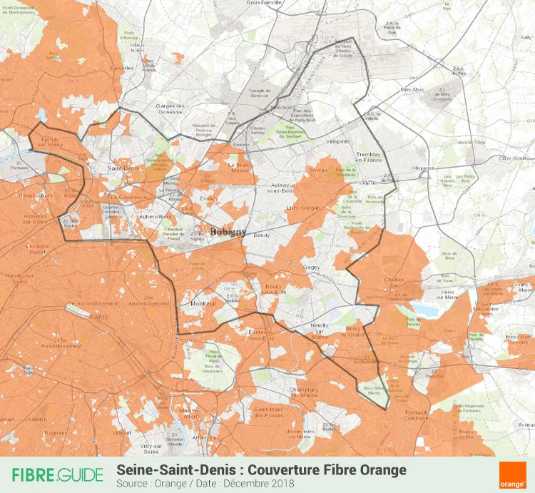 Carte Fibre Orange Seine-Saint-Denis