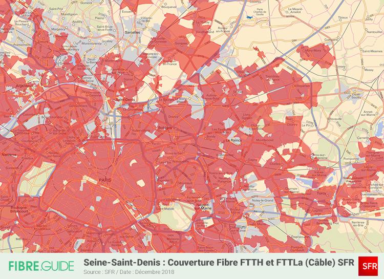 Carte Fibre SFR Seine-Saint-Denis