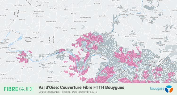 Carte Fibre Bouygues Télécom Val-d'Oise