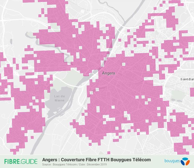 Carte Fibre Bouygues Télécom à Angers