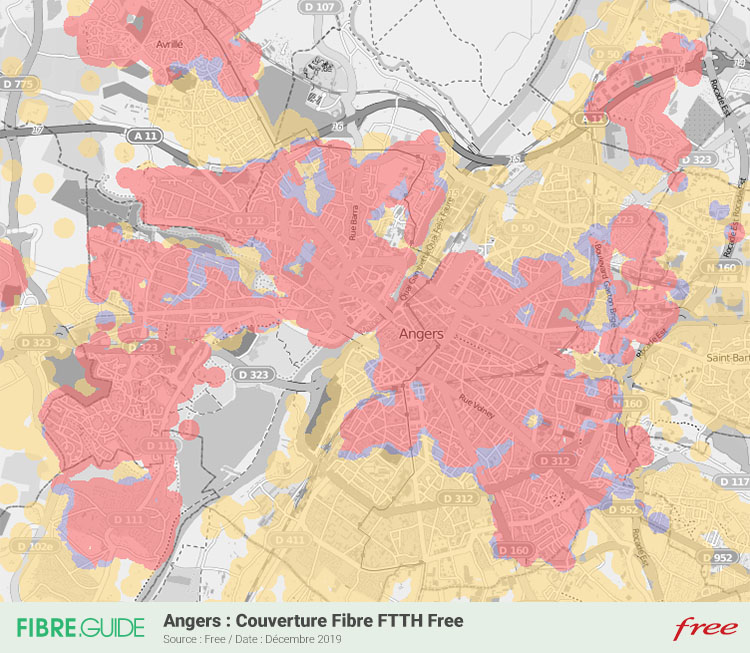 Carte Fibre Free à Angers