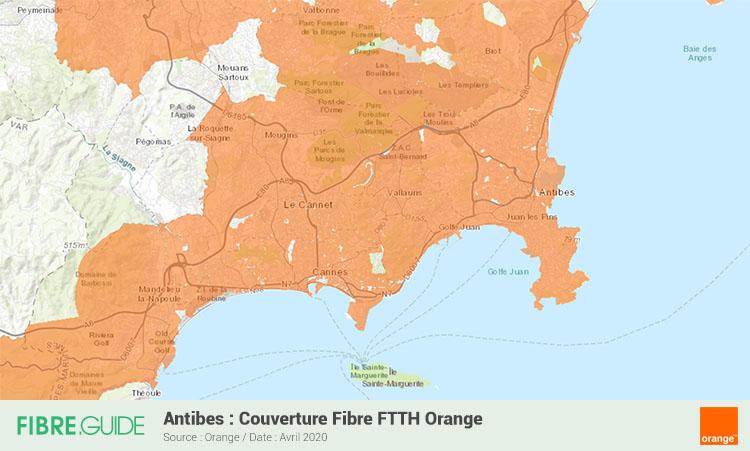 Carte Fibre Orange à Antibes