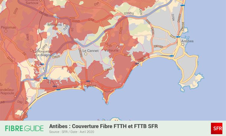 Carte Fibre SFR à Antibes