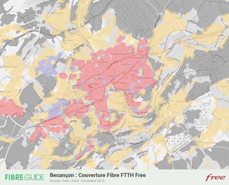 Carte Fibre Free à Besançon